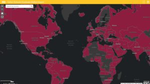 Still image of Fulton Schools Graduate Global Impact map